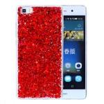 Pouzdro / Obal Huawei P8 Lite - Červené třpytivé