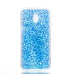 Pouzdro / Obal Galaxy J3 2017 - Modré třpytivé