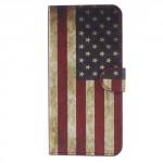 Koženkové pouzdro Huawei Mate 10 Lite - Vlajka USA