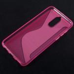 Pouzdro / Obal S-curve Huawei Mate 10 Lite - Růžové