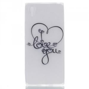 Pouzdro Sony Xperia L1 -  průhledné - I love you