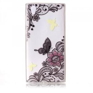 Pouzdro Sony Xperia L1 -  průhledné - Motýli 02