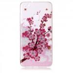 Pouzdro / Obal Huawei P10 Lite - průhledné - Květy 05 - třpytivé