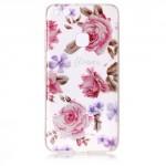 Pouzdro / Obal Huawei P10 Lite - průhledné - Květy 06 - třpytivé