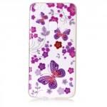 Pouzdro / Obal Huawei P10 Lite - průhledné - motýli 03 - třpytivé