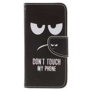 Koženkové pouzdro Huawei P9 Lite Mini - Don't touch my phone