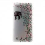 Pouzdro / Obal Huawei P9 Lite - Květy a slon