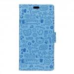 Pouzdro Xiaomi Redmi 4a - modré s potiskem