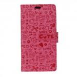 Pouzdro Xiaomi Redmi 4a - růžové s potiskem