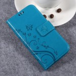 Pouzdro Huawei Y3 II - modré květy