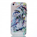 Pouzdro / Obal - iPhone 5/5S - průhledné - tygr