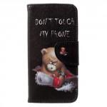 Koženkové pouzdro Honor 6A - Don't touch my phone 02