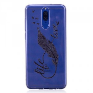 Pouzdro / Obal  Huawei Mate 10 Lite - průhledné - peří
