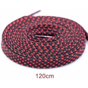 Módní tkaničky tečkované - černo-červené