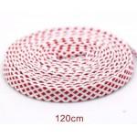 Módní tkaničky tečkované - bílo-červené
