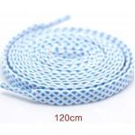 Módní tkaničky tečkované - bílo-modré