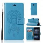 Koženkové pouzdro Nokia 3 - Sovy - modré