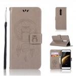 Koženkové pouzdro Nokia 5 - Lapač snů - Šedé