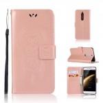 Koženkové pouzdro Nokia 5 - Lapač snů - Růžové