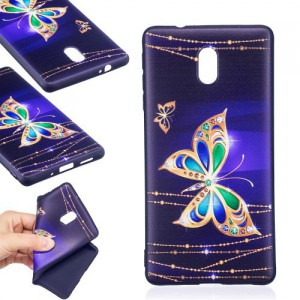 Pouzdro Nokia 3 - motýli
