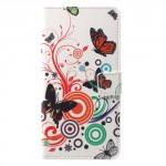 Koženkové pouzdro Nokia 6 - Motýli 02