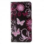 Koženkové pouzdro Nokia 6 - Motýli 04
