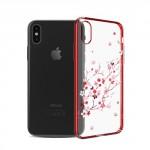 Kryt / Obal iPhone X - Květy 02 - s kamínky Swarovski