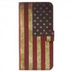 Koženkové pouzdro Honor 7X - Vlajka USA