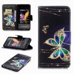 Koženkové pouzdro Honor 7X - Motýli 04