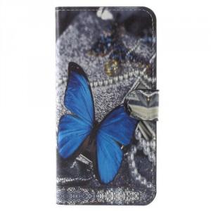 Koženkové pouzdro Honor 7X - Motýli 07