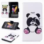 Koženkové pouzdro Honor 7X - Panda