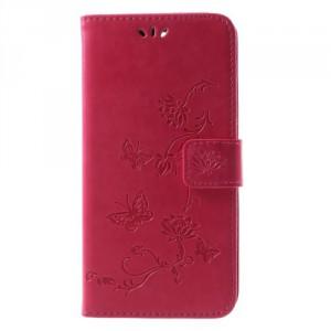 Koženkové pouzdro Huawei Mate 10 Lite - Květy - růžové