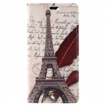 Koženkové pouzdro Honor 9 Lite - Eiffelovka 02
