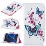 Koženkové pouzdro Samsung Galaxy S7 - motýli 02