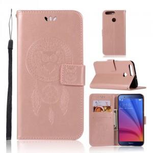 Koženkové pouzdro Honor 8 Pro - lapač snů - růžové