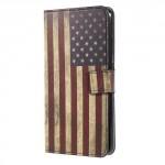 Koženkové pouzdro Honor 8 Pro - Vlajka USA