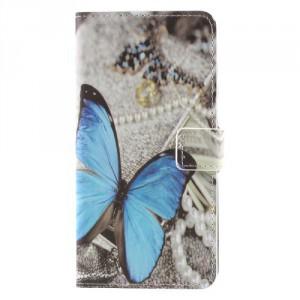 Koženkové pouzdro Nokia 8 - Motýl