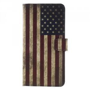 Koženkové pouzdro Nokia 8 - Vlajka USA