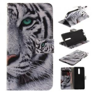 Koženkové pouzdro Nokia 8 - Tygr