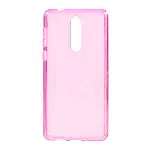 Pouzdro S-curve Nokia 8 - růžové