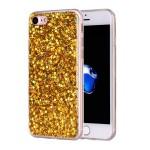 Pouzdro iPhone SE (2020),  iPhone 7, iPhone 8 - Zlaté třpytivé