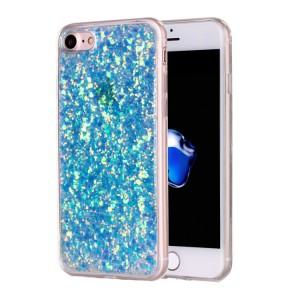Pouzdro iPhone SE (2020), iPhone 7, iPhone 8 - Modré třpytivé