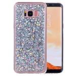 Pouzdro Galaxy S8+ Stříbrné třpytivé