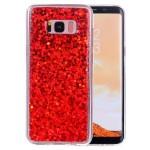 Pouzdro Galaxy S8+ Červené třpytivé