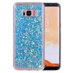 Pouzdro Galaxy S8+ Modré třpytivé