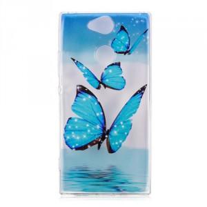 Obal  Xperia XA2 - průhledné - Motýli