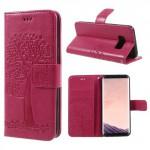 Pouzdro Samsung Galaxy S8 - růžové - Strom