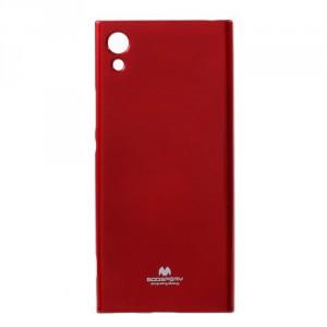 Obal  Jelly Case Xperia XA1 - červený třpytivý