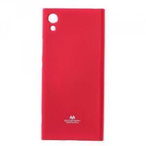 Obal  Jelly Case Xperia XA1 - tmavě růžový třpytivý