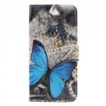 Koženkové pouzdro Honor 9 Lite - Motýl